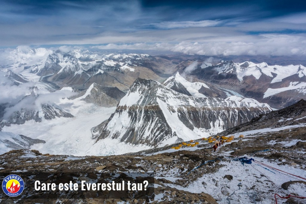 Tibetan Plateau, seen from above Camp 3, 8300m