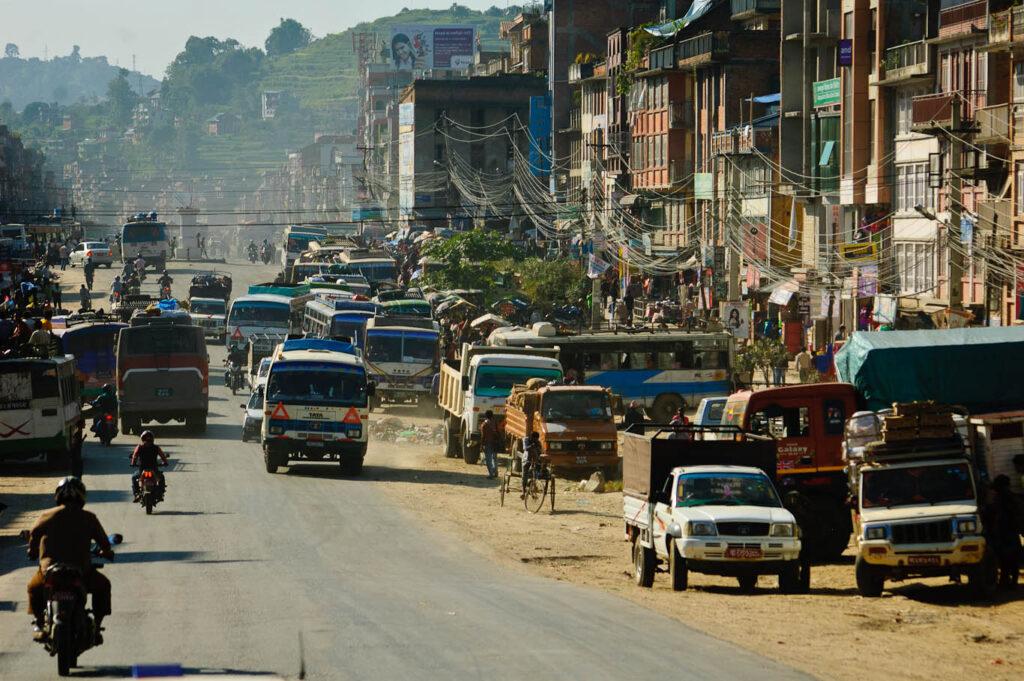 Peaceful life in Nepal, near Kathmandu.