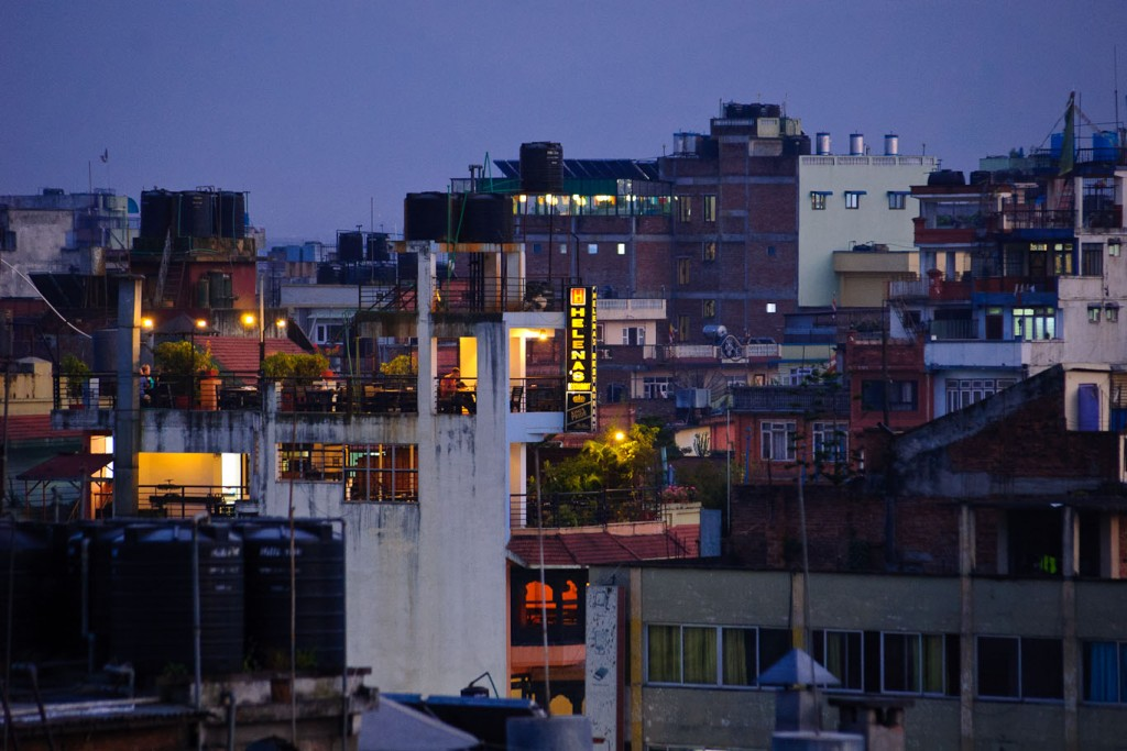 Kathmandu skyline at dawn
